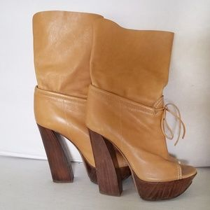Casadei Ankle Boots Open Toe Genuine Leather